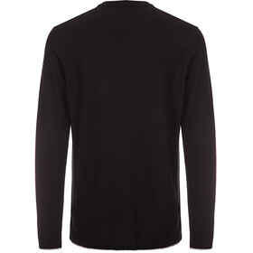 super.natural M's Piquet LS Shirt Jet Black/Ash Melange